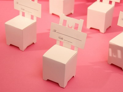 Set of 100 Chair Place Card Holders / Favor Boxes