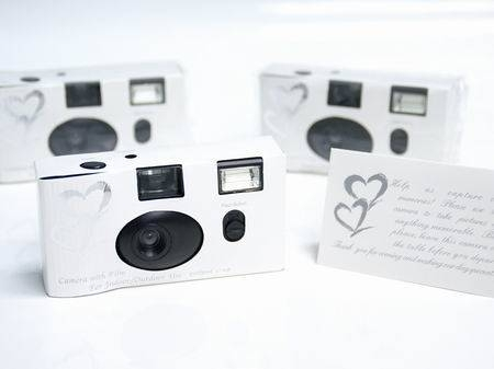 Silver cameras for tables