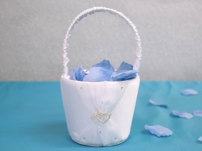 Double heart flower girl basket