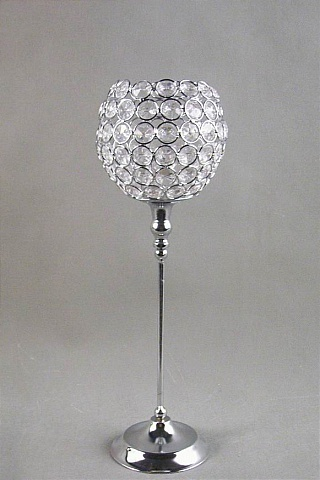 Beaded Ball Candle Holder