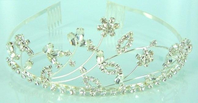 Rhinestone bridal tiara 004