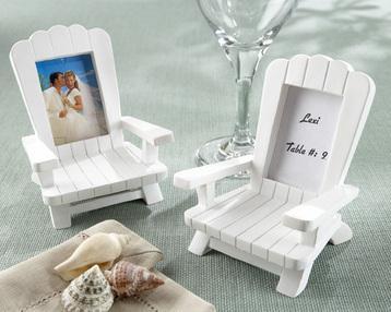 Set of 4 Miniature Beach Chair Placecard Holder / Photo Frame