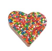 40 x Chocolate Freckle Hearts