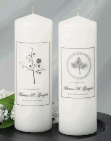 Personalised Memorial Candle for Wedding