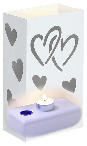 White Heart Luminaries (set of 12)