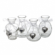 Set of 6 Glass Vases