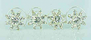 Set of 12 hair pins with rhinestones