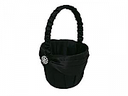 Black flowergirl basket