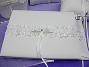 Guest Book with Lace Detail
