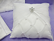 Diamonte flower ring pillow