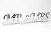 Acrylic Mirrored Words Mr & Mrs