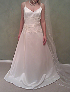 Brand new Australian Made Wedding dress with short train, size 14, one only - 003
