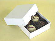 Chocolate box with blank insert for filling of 4 - set of 25