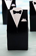 Black tuxedo favour boxes (Set of 100)