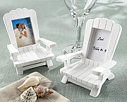 Beach Memories Miniature Adriondack Chair Placecard / Photo Frame (set of 4)