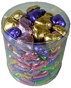 Mixed colour chocolate hearts - 1150gms, approx 150 chocolates