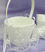 Lace Skirted Flower Girl Basket