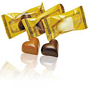 Heart shaped belgian chocolates individually wrapped (100)