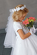 White Flowergirl dress, one only