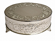 Silver Plated Round Cake Stand / Tableau