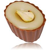 Pistachio & Kirsch Belgian chocolate cups (box of 37)