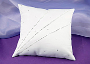 Satin Ring Pillow with Diamonte Detail