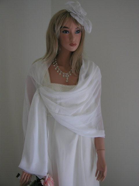 Organza Bridal Shawl
