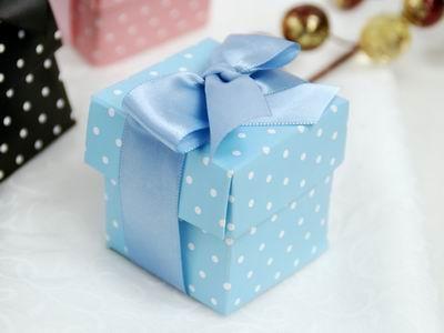 Polka dot favor boxes, 2 piece, set of 100