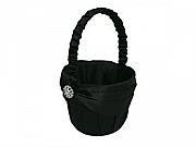 Black flowergirl basket
