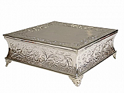 Silver Plated Square Cake Stand / Tableau