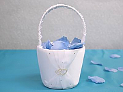 Double heart flower girl basket