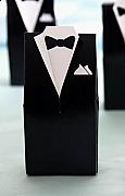 Set of 50 Tuxedo Favor Boxes