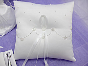 Satin & Organza Ring Pillow