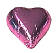 Chocolate Hearts - set of 50, choice of colours, larger quantities available