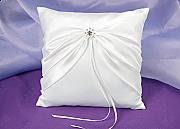 Satin Ring Pillow with Rhinestone Detail