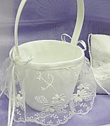 Lace Skirted Flower Girl Basket