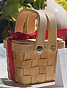 Set of 50 Minature Picnic Baskets with Chocolate Inside